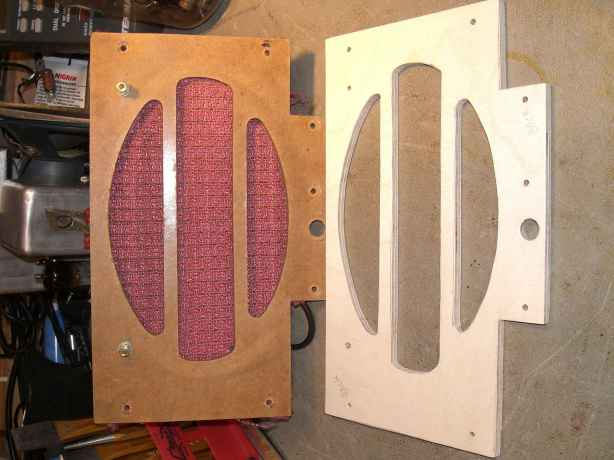 New baffle and rear of old baffle